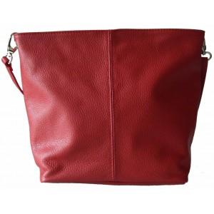 Geanta Sissi Red piele naturala