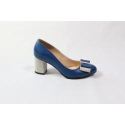 Pantofi piele naturala CA2 Albastri