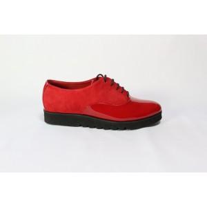 Pantofi din piele naturala - Rosu CA13