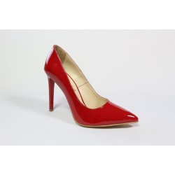 Pantofi din piele lacuita naturala - Bordo CA3