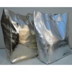 Geanta Celine Argintie-piele naturala