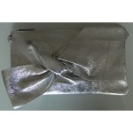 Geanta plic Miraj de ocazie argintiu piele naturala