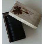 Portofel V901 negru piele naturala