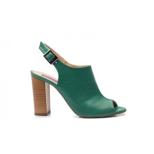 Sandale din piele naturala - verde  CA14