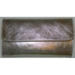Plic de ocazie argintiu piele naturala