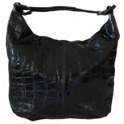 Geanta Victory croco neagra piele naturala