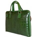 Geanta Office Luisa piele naturala verde