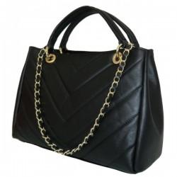 Geanta Luxury neagra piele naturala