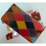 Portofel Multicolor romb piele naturala