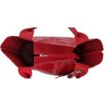 Geanta Alexa croco rosie piele naturala