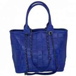 Geanta Zara Albastru electric piele naturala
