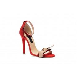 Sandale din piele naturala Rosu CA6