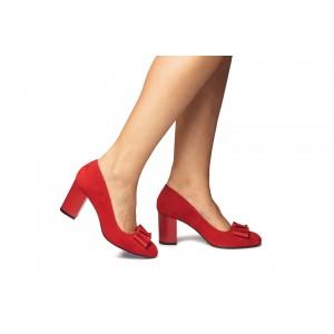 Pantofi piele naturala CA2 rosii