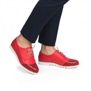 Pantofi din piele naturala - Rosu CA8