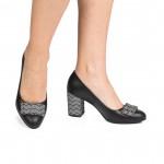 Pantofi piele naturala CA2 neagru