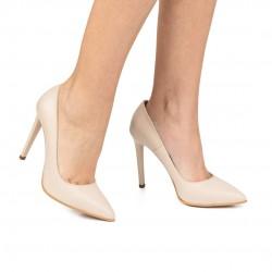 Pantofi din piele naturala- roz CA3