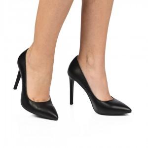 Pantofi din piele naturala- negru CA3