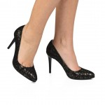 Pantofi din piele naturala negru CA4