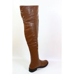 Cizme din piele naturala maro - CB19