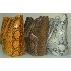 Geanta Celine croco mustar piele naturala