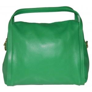 Geanta Riana Verde piele naturala
