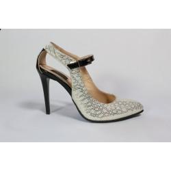 Sandale din piele naturala Argintii CA7