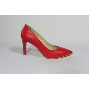 Pantofi din piele naturala - Rosu CA23