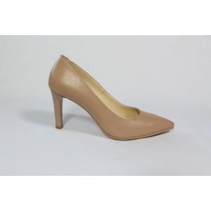 Pantofi din piele naturala - Bej CA23