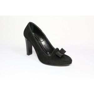 Pantofi piele intoarsa - Negru CA24