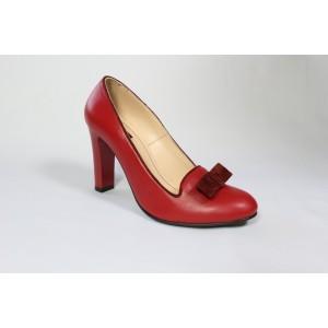 Pantofi din piele naturala - Rosu CA24
