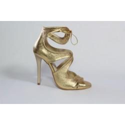 Sandale din piele naturala- auriu CA36